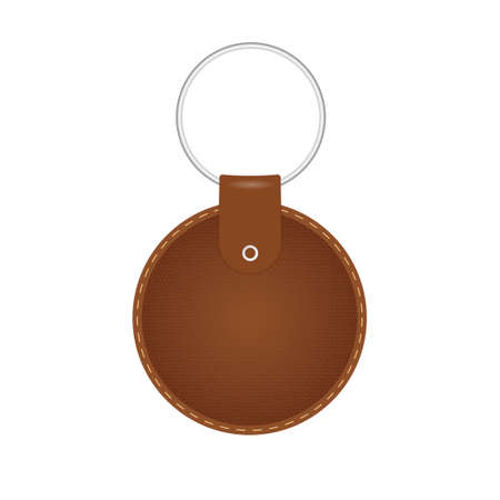 Leather key chain Vetores
