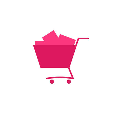 grocery full cart icon Stock Vector - 86990172