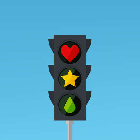 traffic light with heart