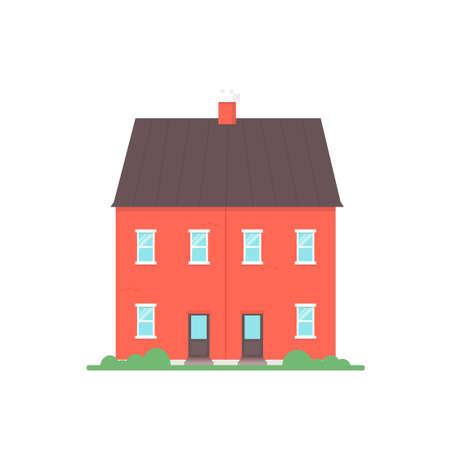 Half vrijstaand huis Stockfoto - 86990188