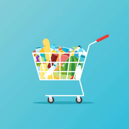 grocery full cart icon