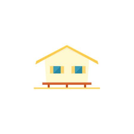 beach bungalow icon