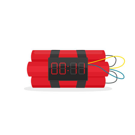 Bomb with clock timer