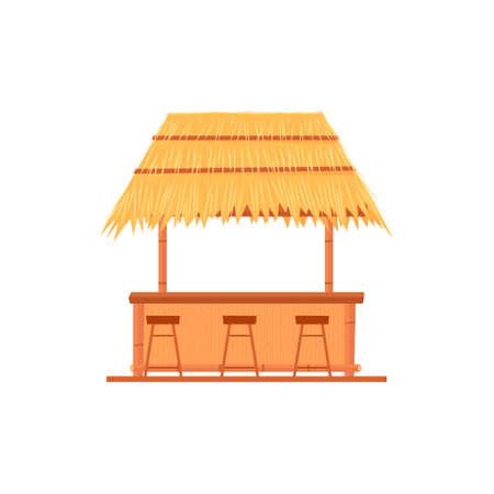 tiki bar choza Ilustración de vector
