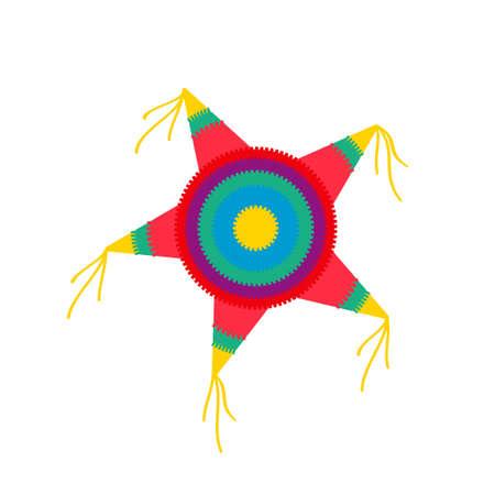forme d'étoile de pinata. Illustration vectorielle isolée sur fond blanc