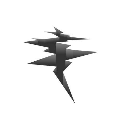 Earthquake crack illustration.
