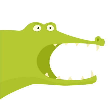 Alligator with open mouth.