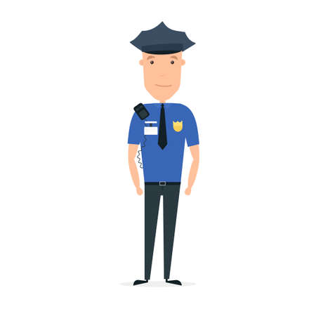 Policeman character. Illustration