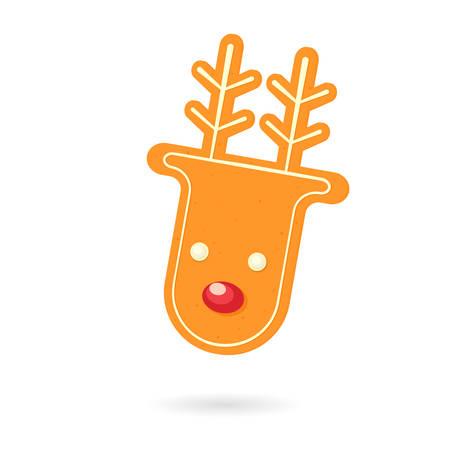 Gingerbread reindeer cookie.
