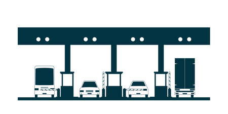 Tol plein pictogram. Vector illustratie geïsoleerd op een witte achtergrond Vector Illustratie