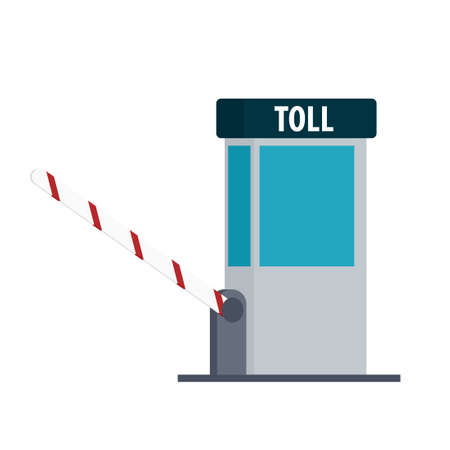 Toll booth icon isolated on white