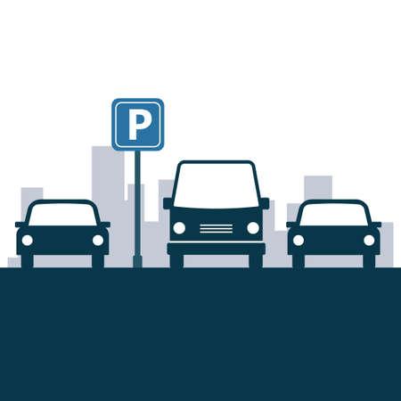 Diseño de la zona de estacionamiento.
