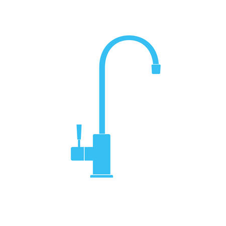 Water filter tap icon. Vector illustration isolated on white background.