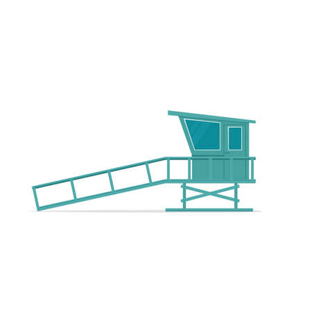 Wooden lifeguard stand Illustration