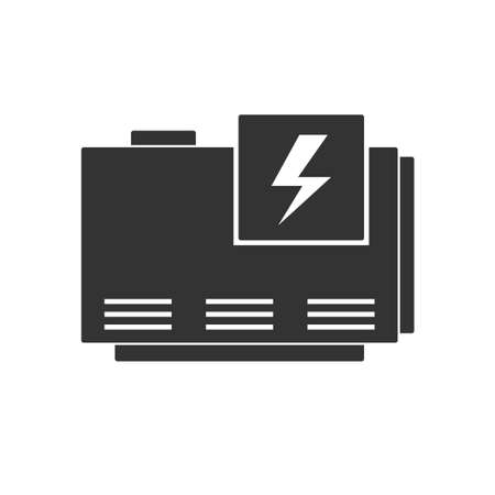 Elecrtic home generator Ilustracja