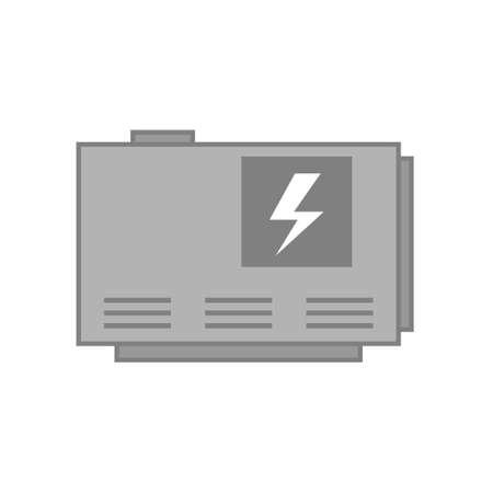 Elecrtic home generator Illustration