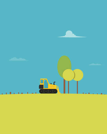 Deforestation vector illustration