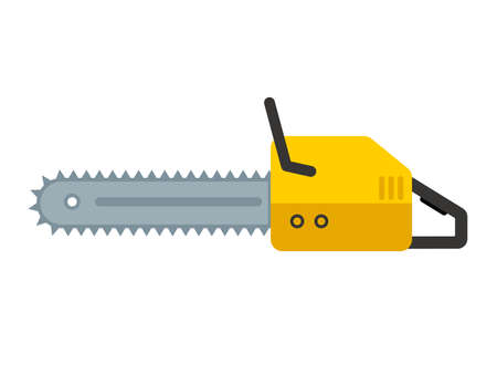Chainsaw flat icon Illustration