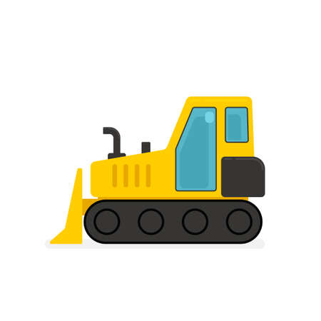 Yellow bulldozer icon