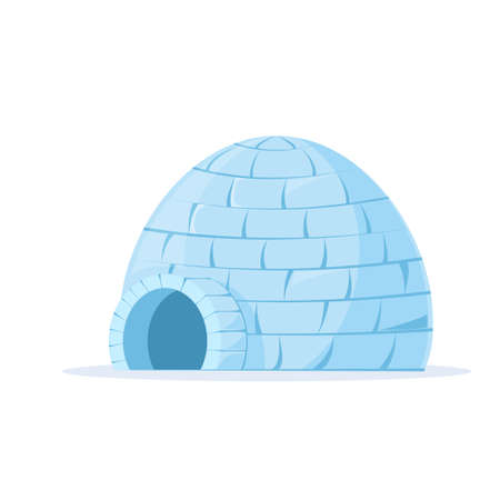 Iced igloo vector Vectores