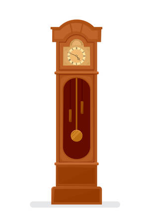 grandfather clock icon Illustration