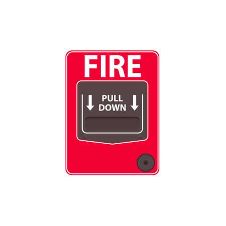 Fire alarm pull station Vettoriali