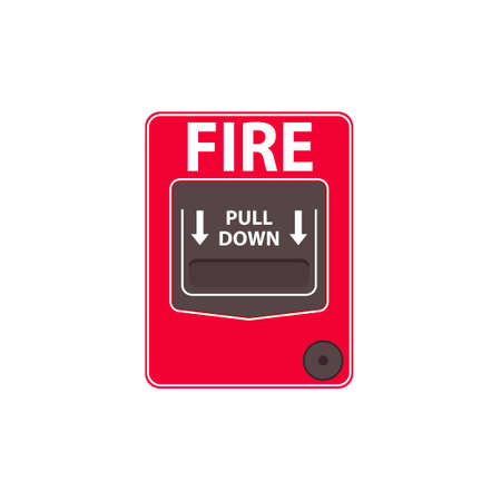 Fire alarm pull station Иллюстрация