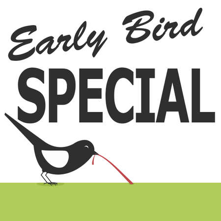 early bird special poster Иллюстрация