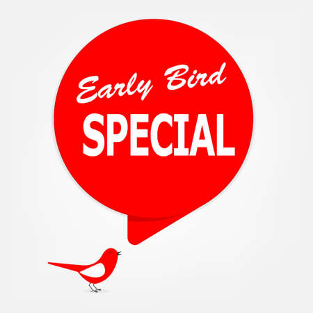 early bird special poster Stock Illustratie