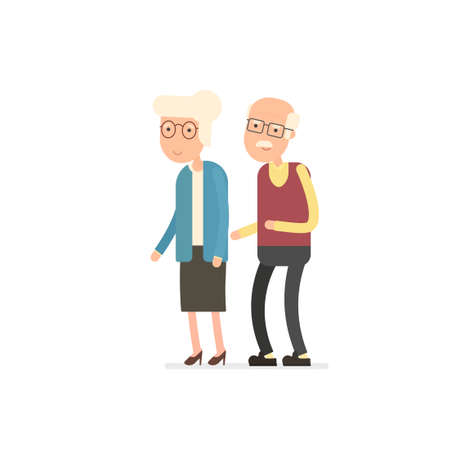 grandmother and grandfather vector icon