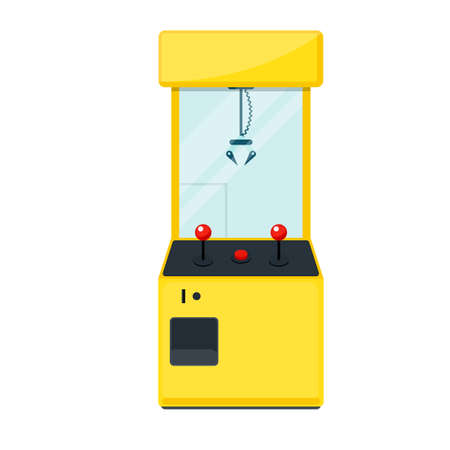 Claw crane machine game Stock Illustratie