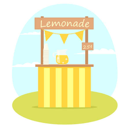 Lemonade stand. Illustration