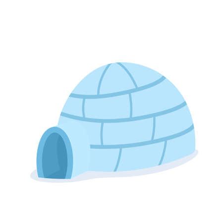 Cartoon igloo icon. Illustration