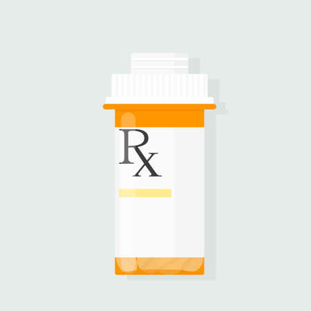 prescription bottle vector Illustration