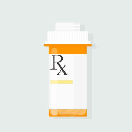 vecteur de bouteille de prescription