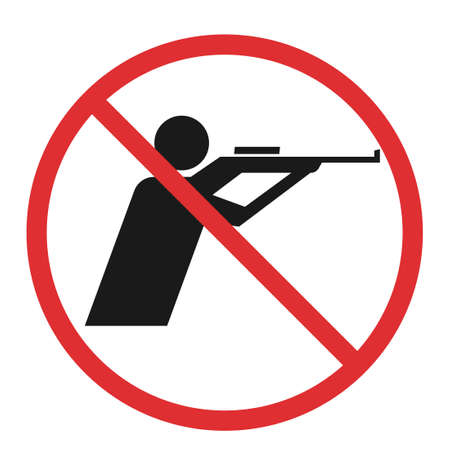 no hunting sign Çizim