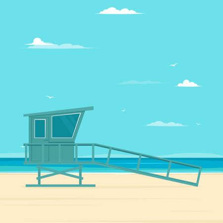 Wooden lifeguard stand Vettoriali