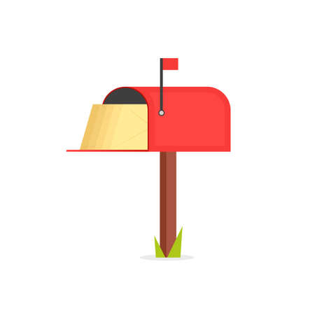 Full red mailbox icon.