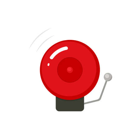 Fire alarm bell icon Illustration