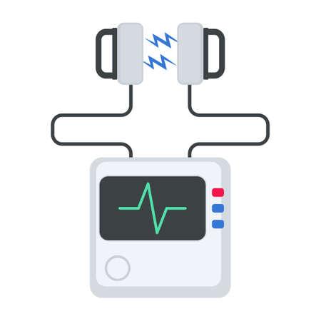 Defibrillator machine icon.