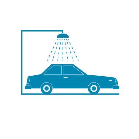 Car wash icon Stock Illustratie
