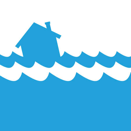 House flood icon Illustration