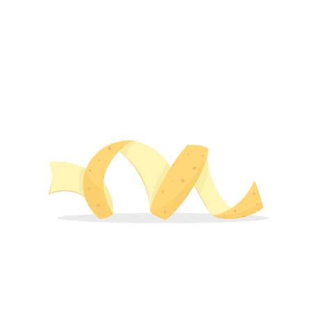 Vegetable potato peel Illustration