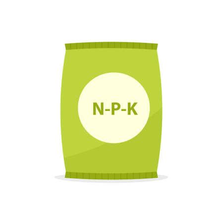 Paper bag with fertilizer icon