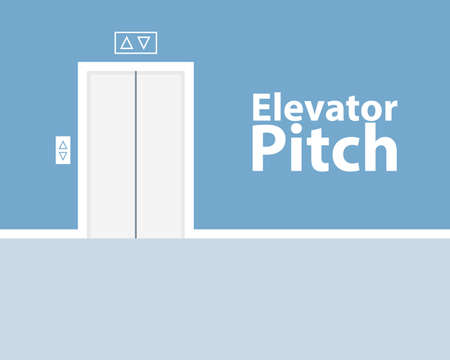 Elevator pitch concept Vettoriali