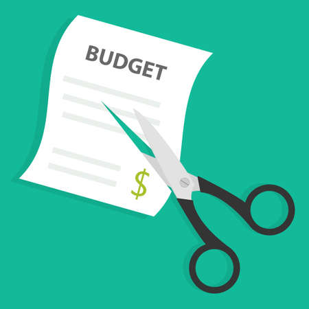 Cutting budget icon