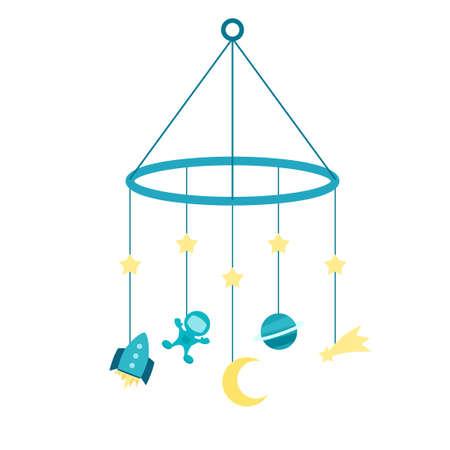 Baby crib mobile 向量圖像