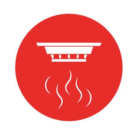 Letrero de pared detector de humo