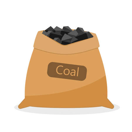 Bag with coal.