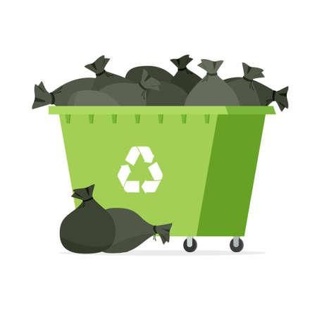 Overflowing Garbage Bin Çizim